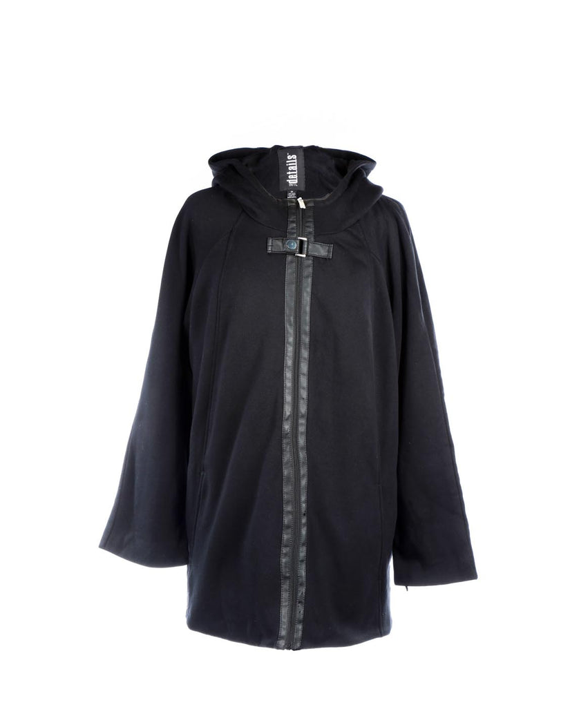 International Details Zip Front Hoodie Buckle Zip