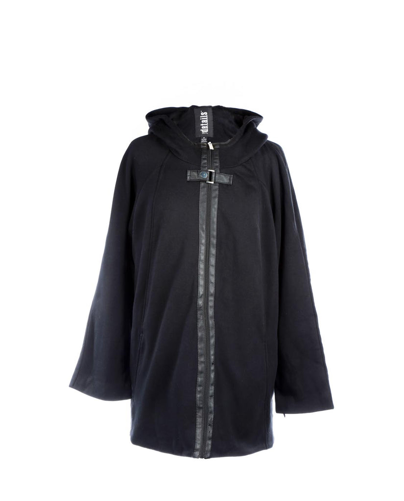 International Details Zip Front Hoodie Buckle Front