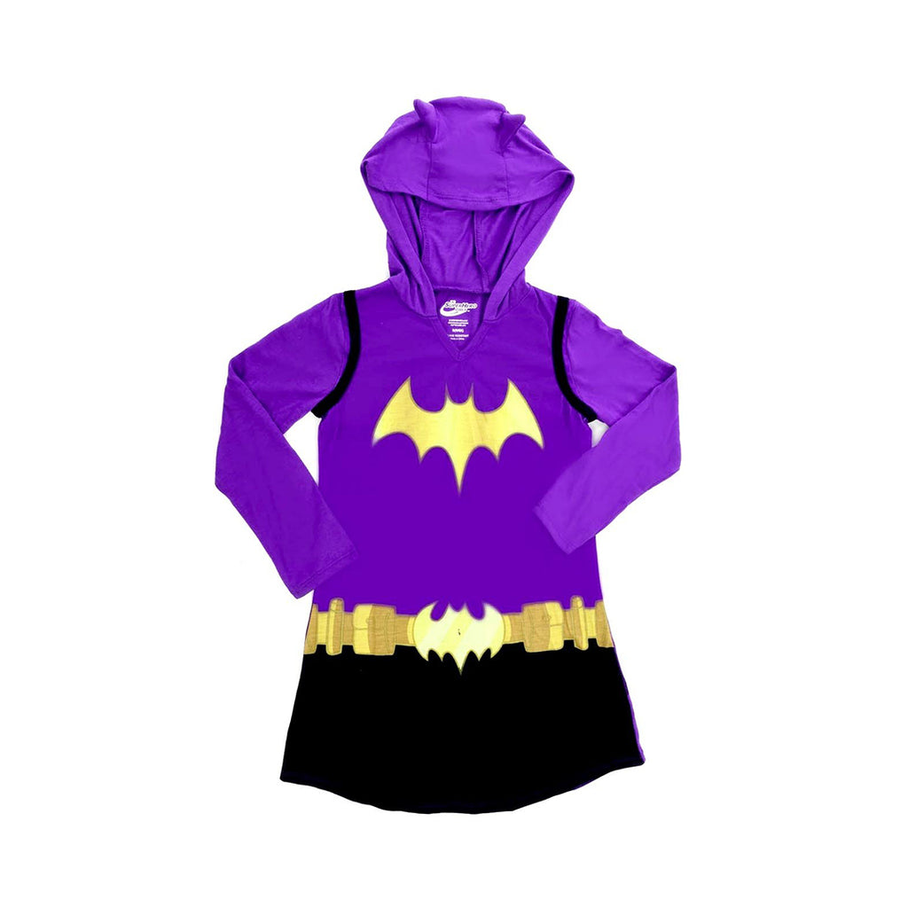 KOMAR KIDS DC COMICS DRESS LIKE BATGIRL HOODED NIGHTGOWN FOR BIG GIRLS