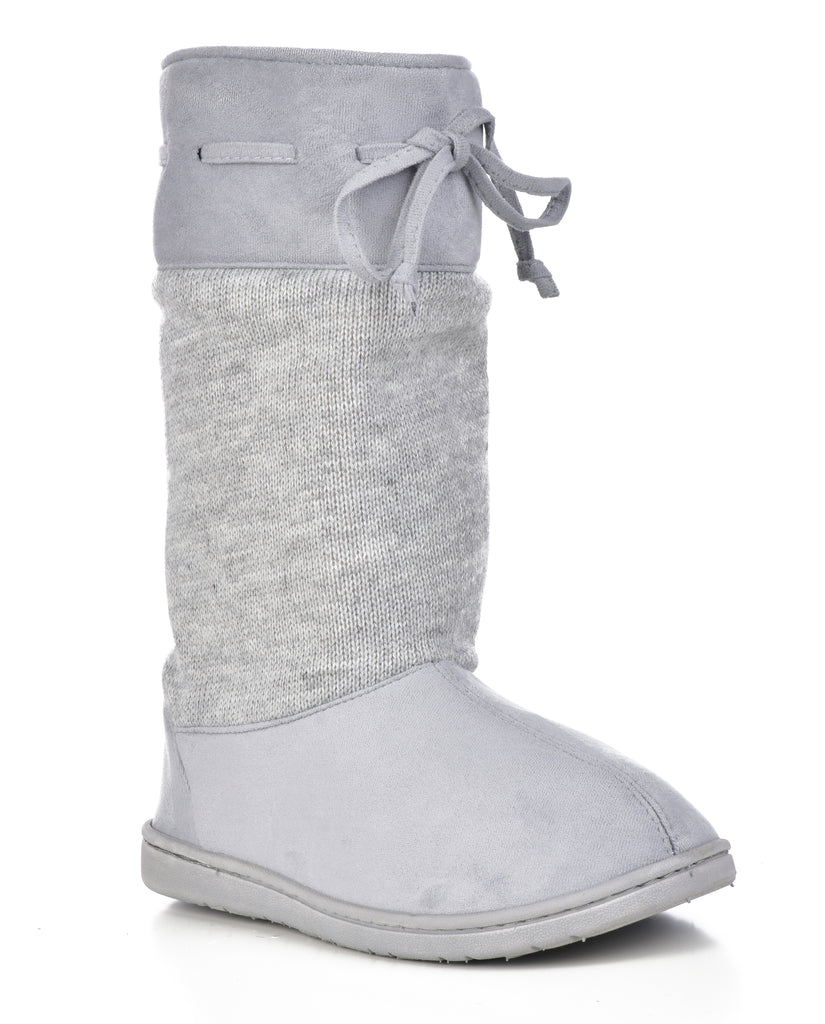 Dearfoams Women's Mixed Material EVA Boot Crossover