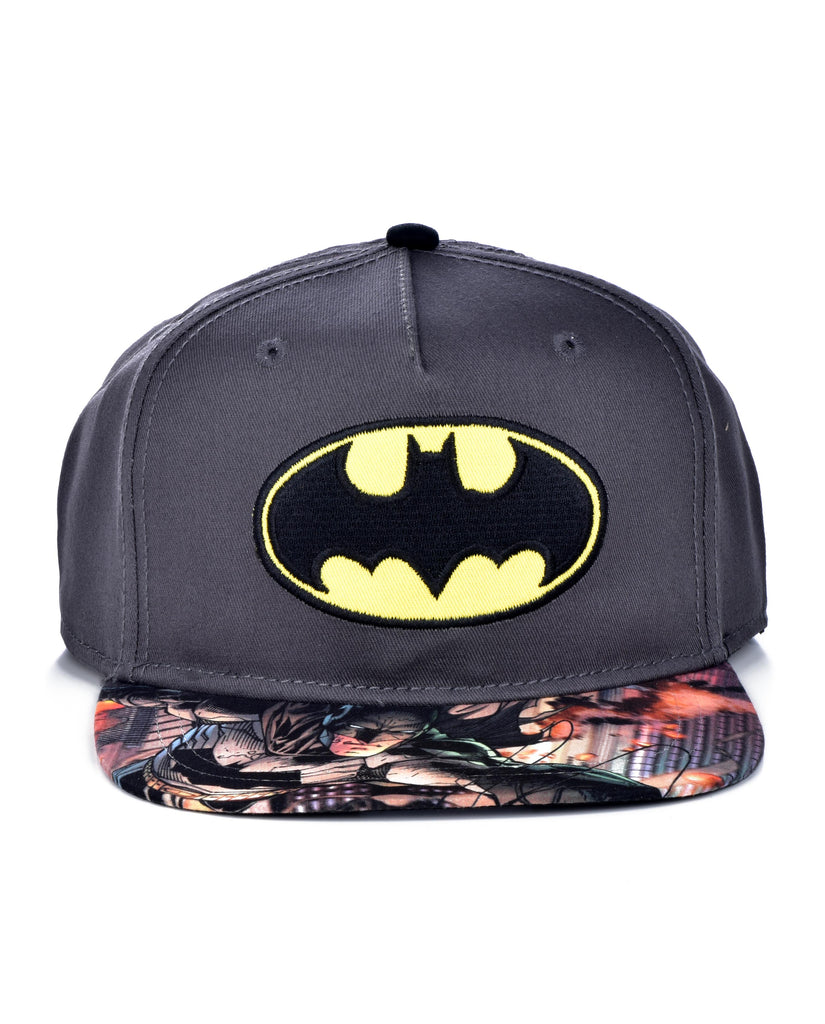 BATMAN SUBLIMATION SNAPBACK CAP GRAY/BLACK