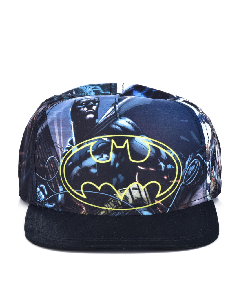 BATMAN SUBLIMATION SNAPBACK CAP BLACK/BLUE