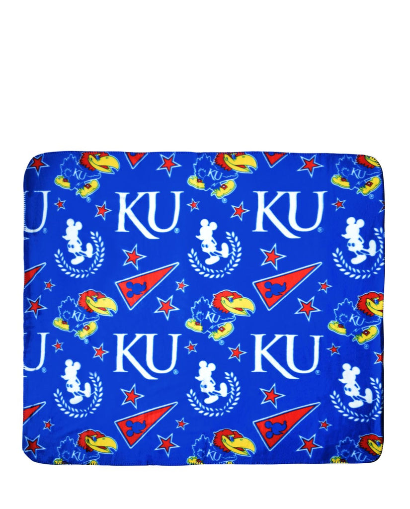 "Officially Licensed NCAA 50""x60"" Mickey Mouse Throw"
