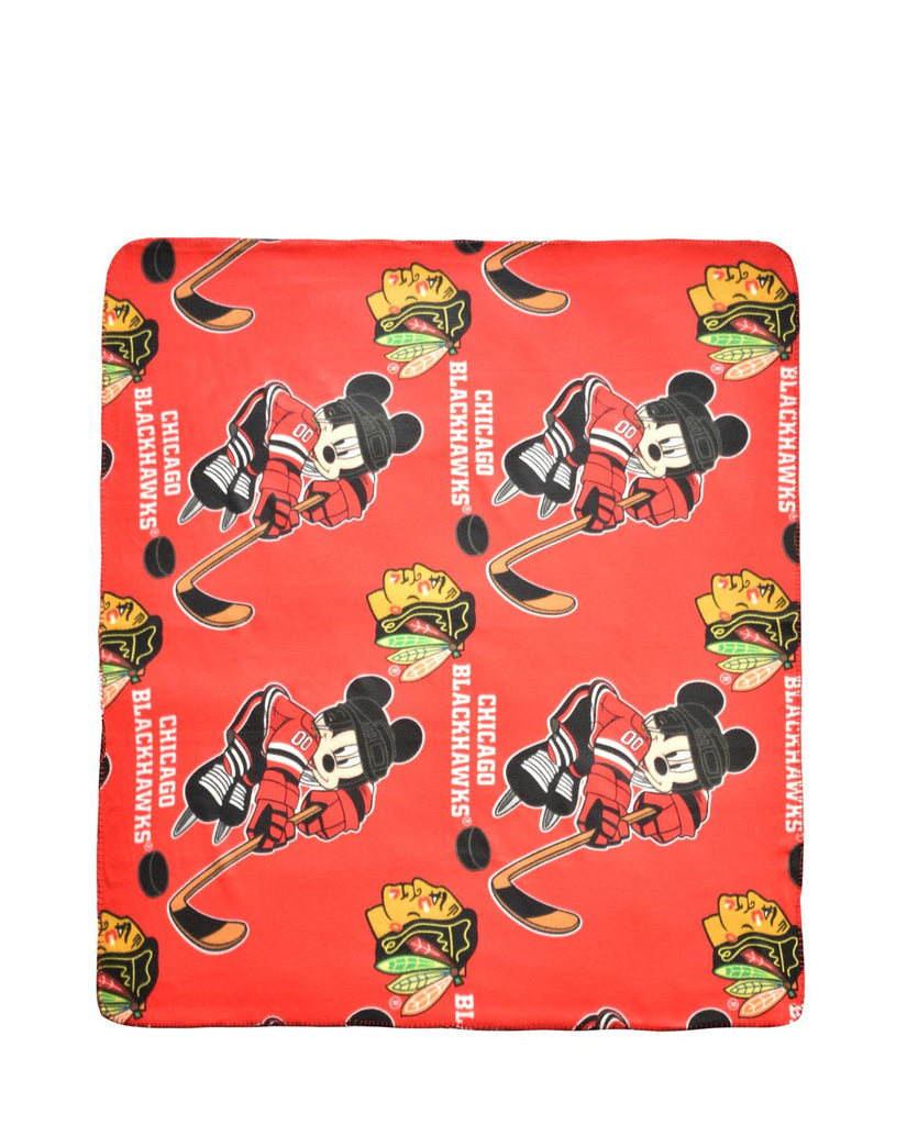 "Officially Licensed NHL 50"" X 60"" Mickey Mouse Throw"