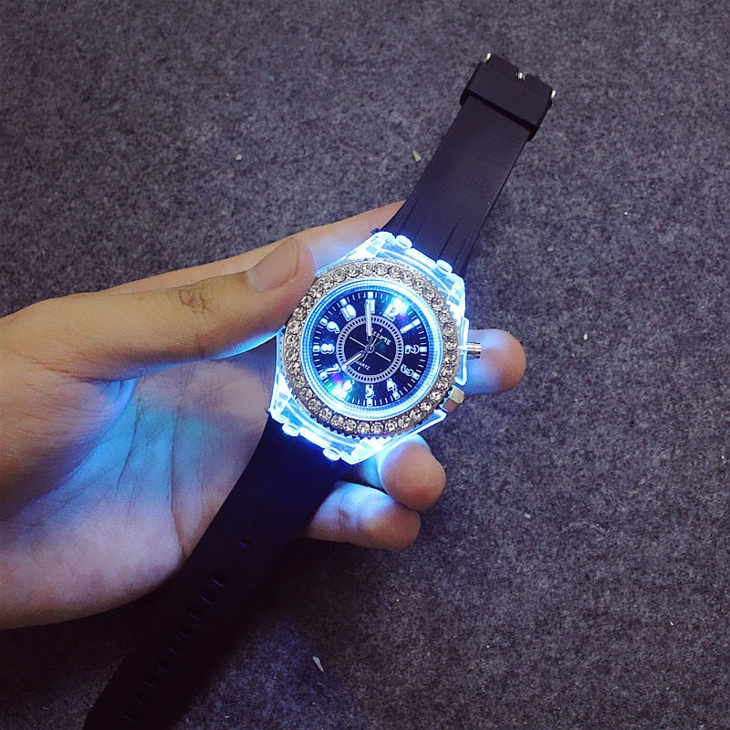 Silicone LED Luminous Fashion Watch - The Online Saving