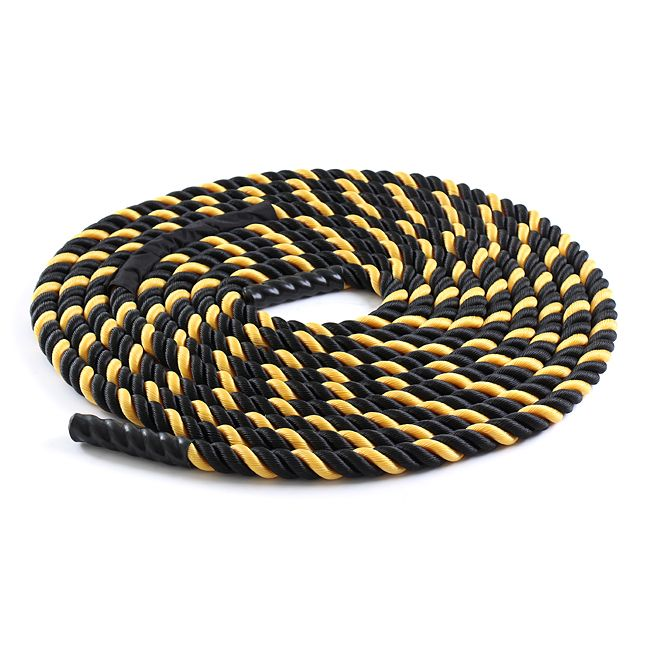 Black / Yellow Nylon 50' Undulation Battle Rope