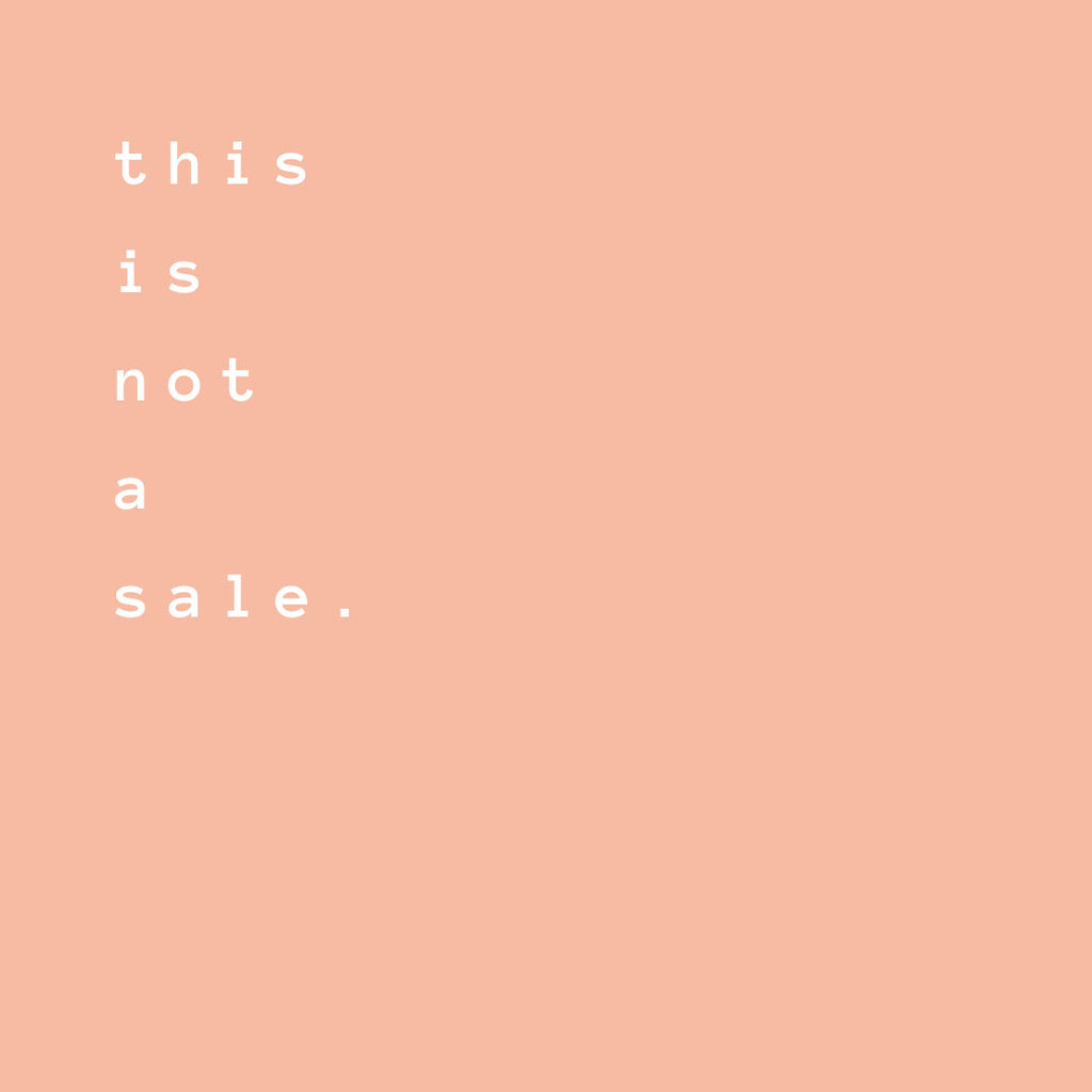 this is not a sale | simétrie