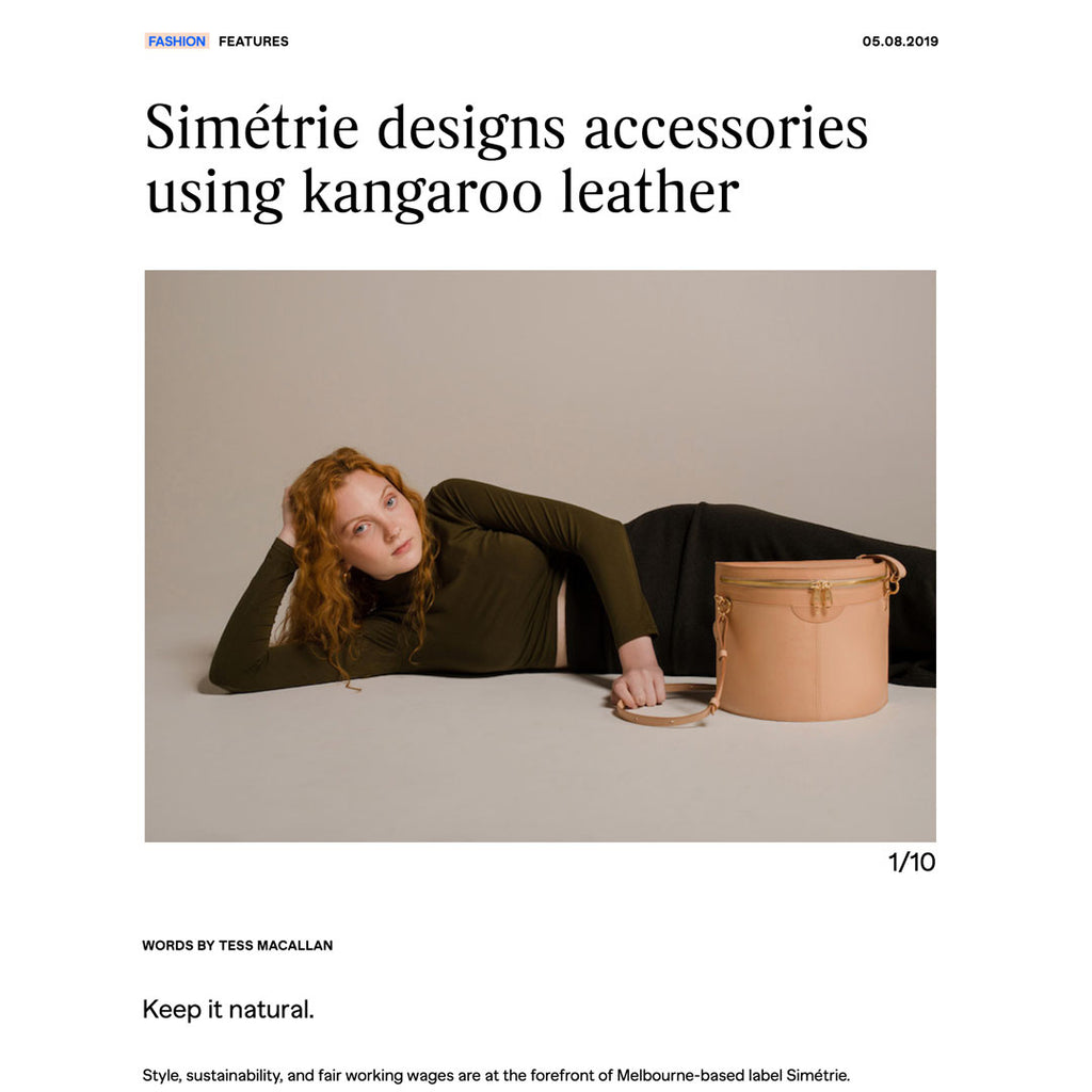 simétrie designs accessories using kangaroo leather