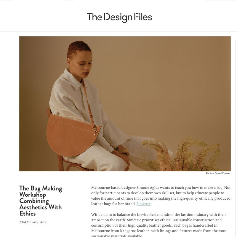 The Design Files write up on simétrie - the bag making workshop combining aesthetics with ethics