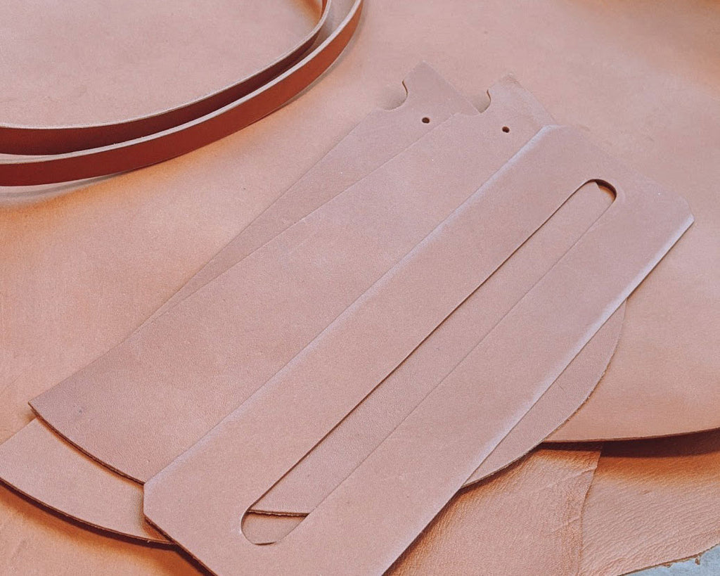 leather panels for the m crescent moon bag
