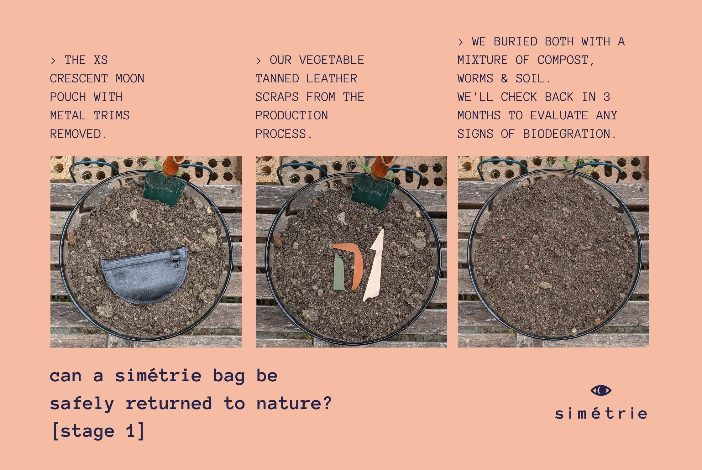 can a simétrie leather bag safely biodegrade