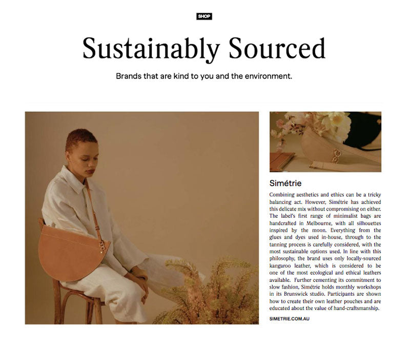 simétrie features in Fashion Journal