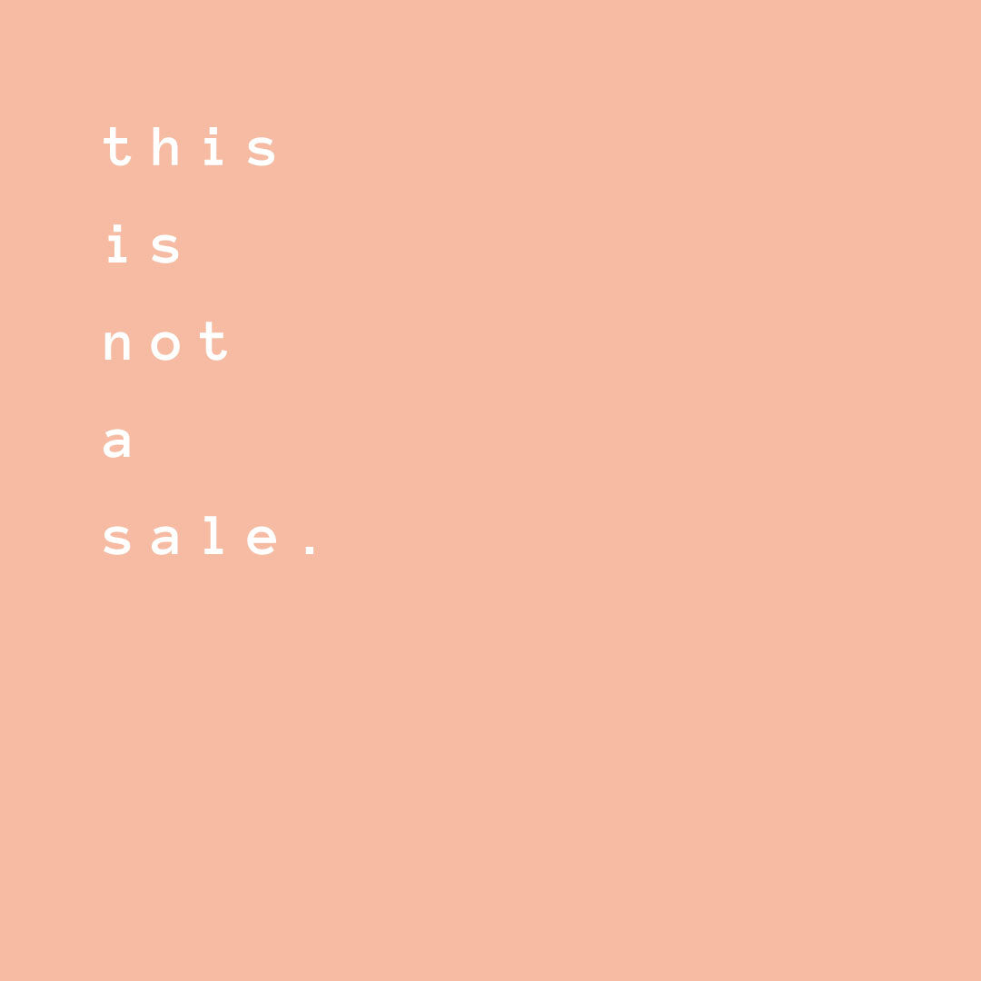 this is not a sale