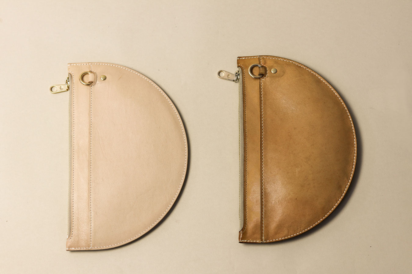 two natural kangaroo leather bags