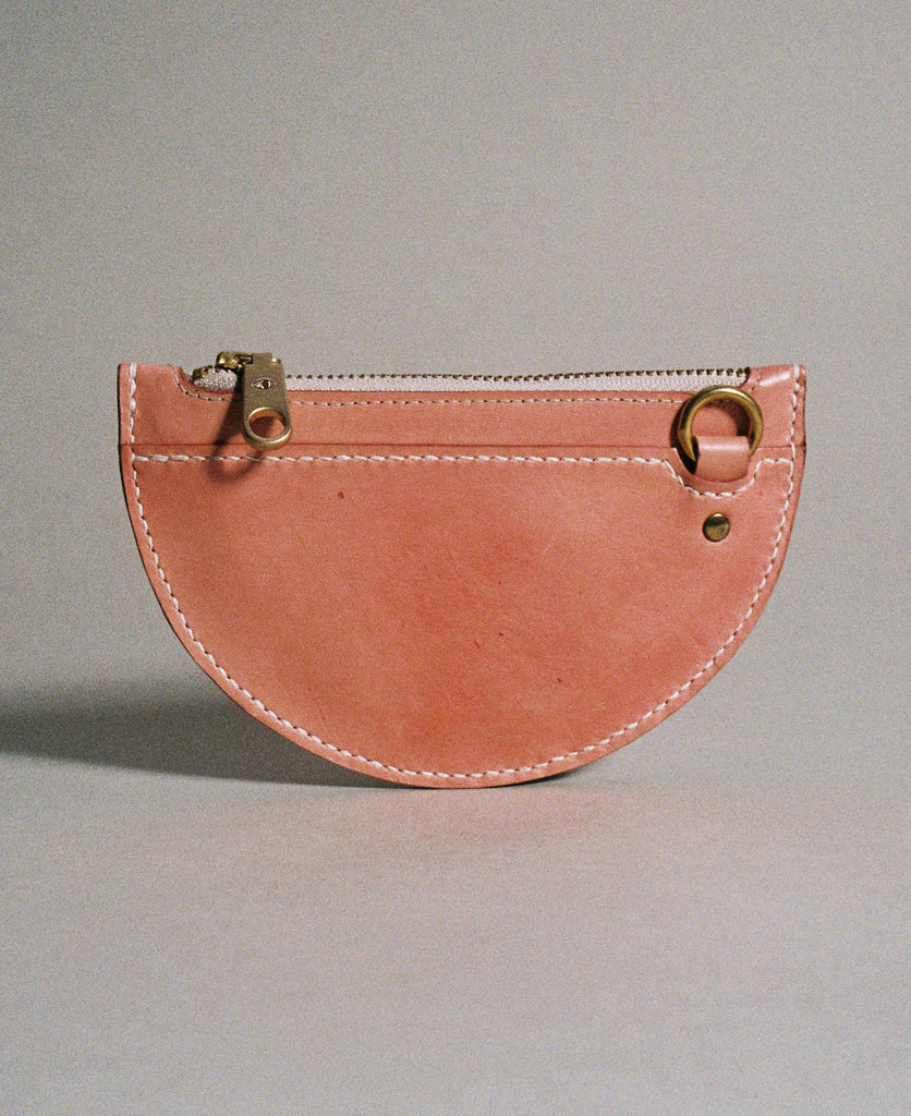 xs crescent moon pouch / red earth