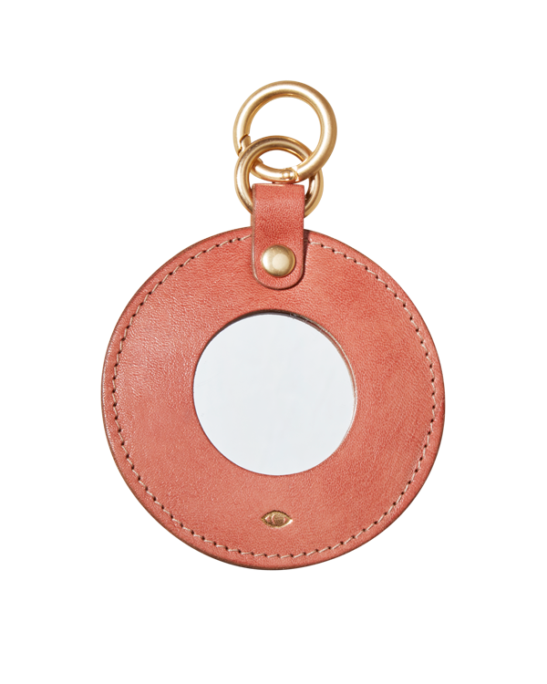 full moon mirror charm / red earth