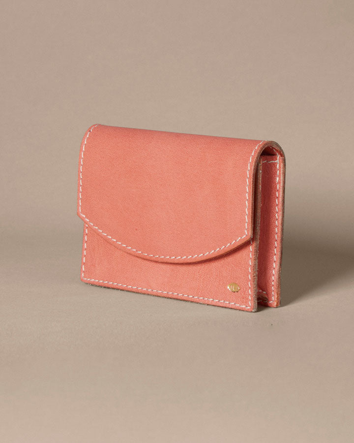 new moon card case / red earth