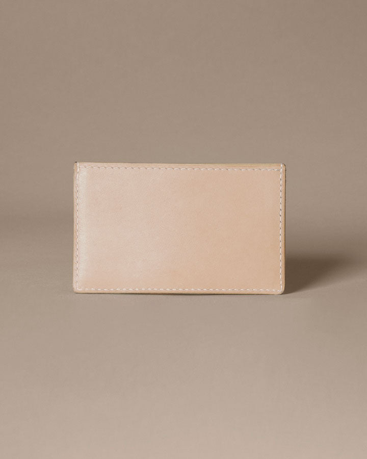 new moon card wallet / natural