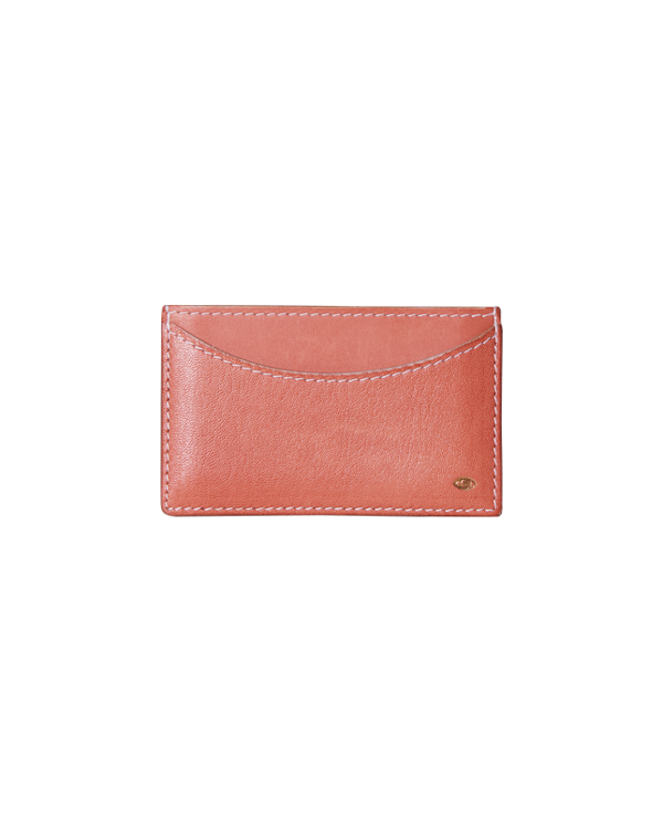 new moon card wallet / red earth