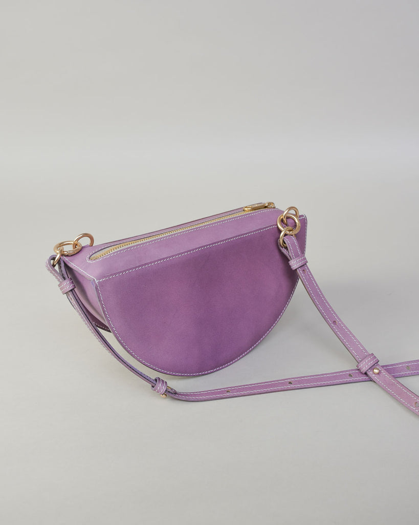 thick crescent moon bag / lavender