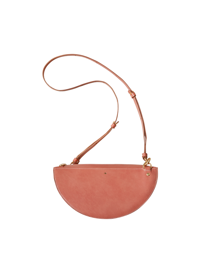 thick crescent moon bag / red earth