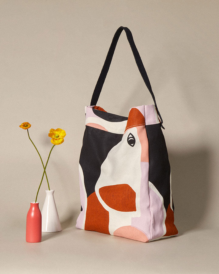 thick tote bag / elemental print