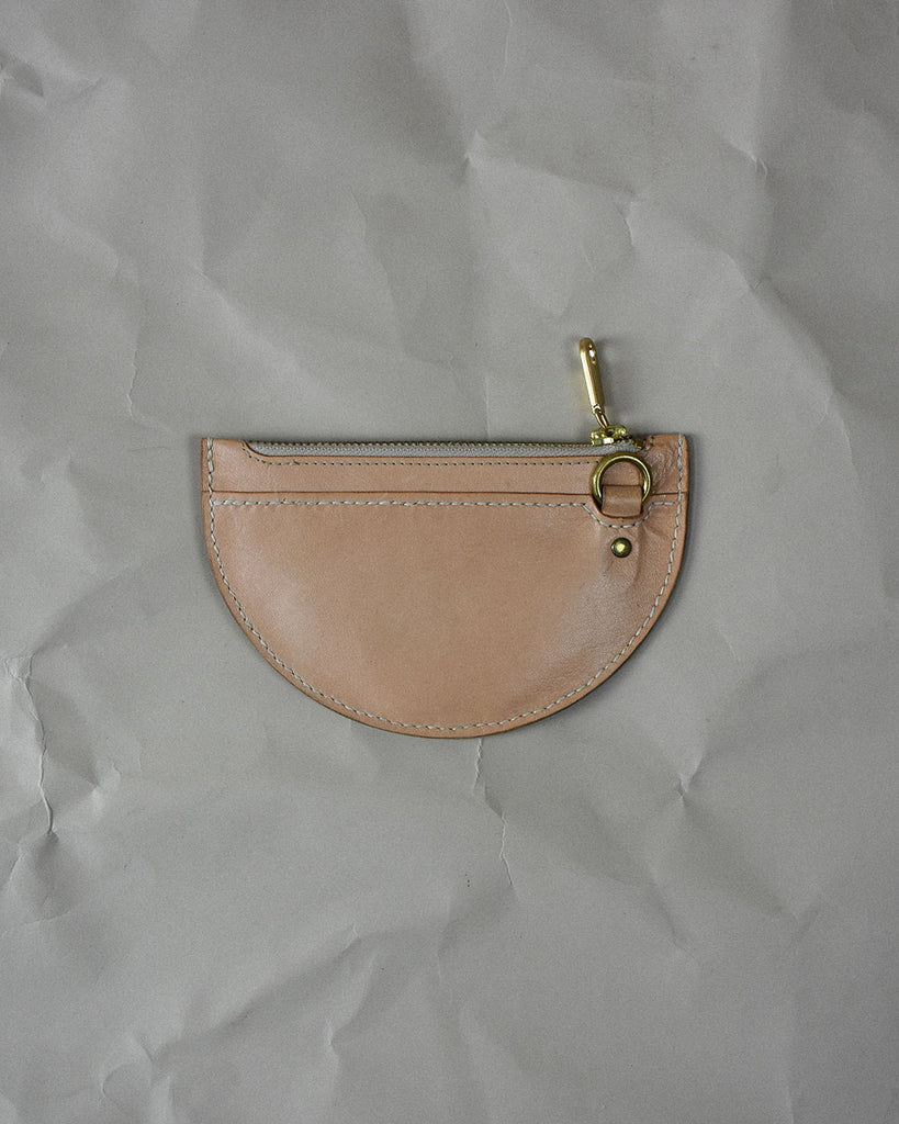 xs crescent moon pouch / natural
