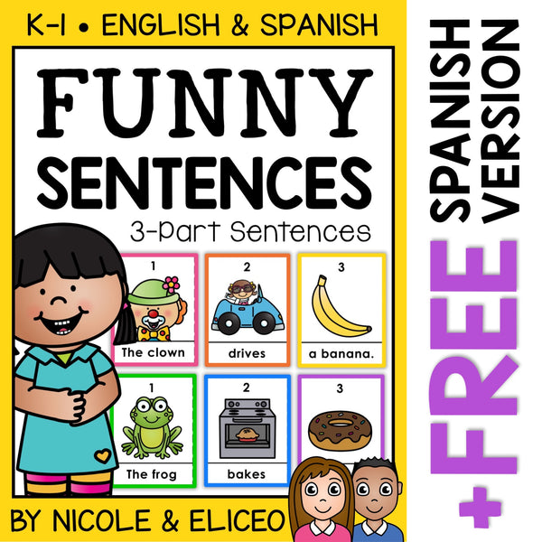 Funny Sentence Building Center 1