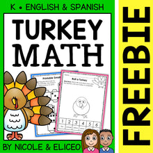 Load image into Gallery viewer, FREE Draw a Turkey Math Activity