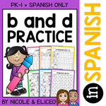 Spanish b and d Reversal Worksheets