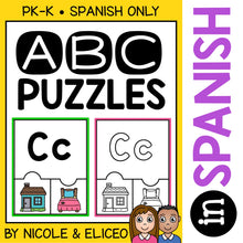 Load image into Gallery viewer, Spanish Alphabet Activity Puzzles