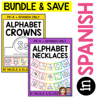 Spanish Alphabet Crowns and Necklaces Bundle
