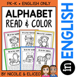 Alphabet Phonics Stories Coloring Sheets