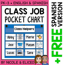 Load image into Gallery viewer, Classroom Jobs Pocket Chart
