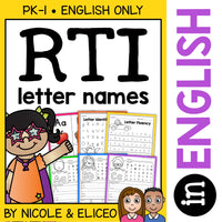 Kindergarten RTI Letter Identification