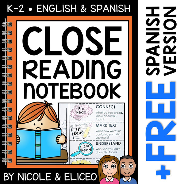 Close Reading Interactive Notebook Templates