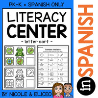 Frog Letter Sort Literacy Center