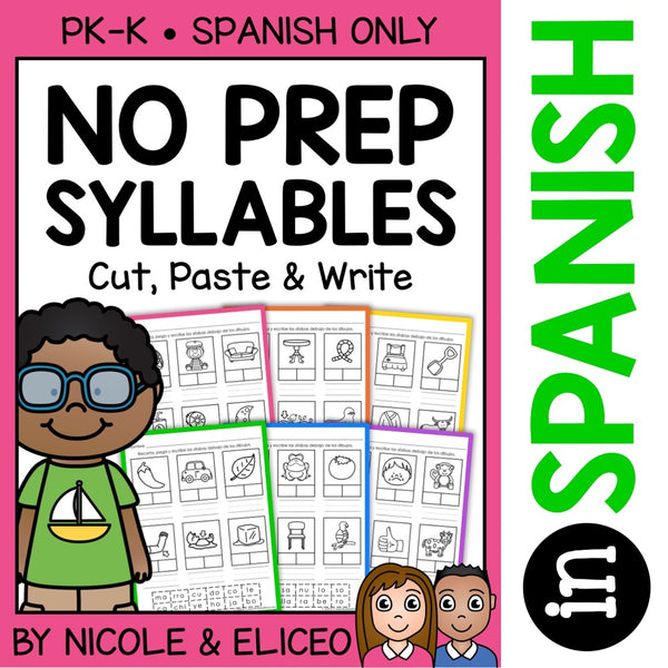 Spanish Syllable Worksheets 1