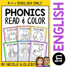 Load image into Gallery viewer, Blend & Digraph Phonics Stories Coloring Sheets