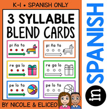 Load image into Gallery viewer, Spanish Syllable Blend Cards 2