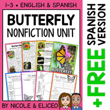 Load image into Gallery viewer, Butterfly Activities Nonfiction Unit