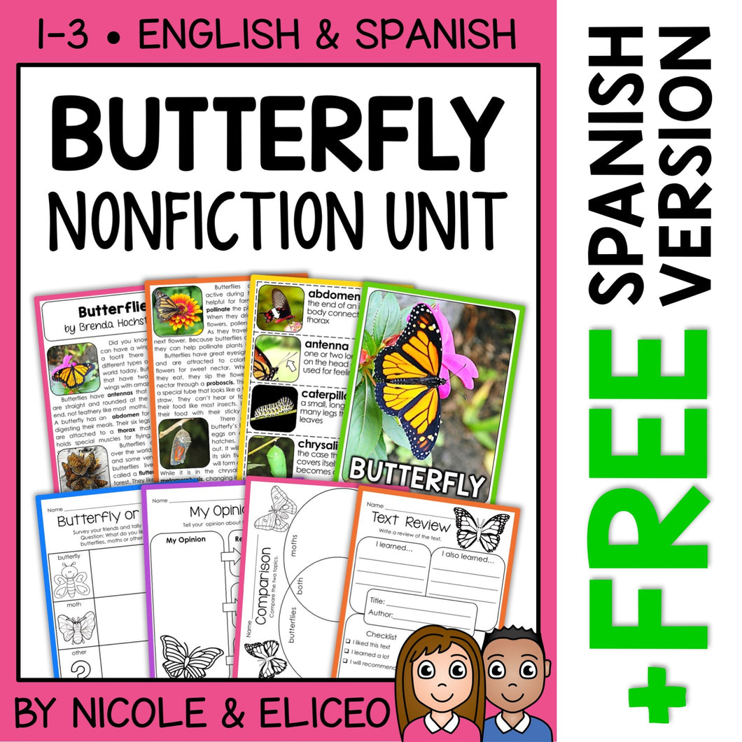 Butterfly Activities Nonfiction Unit