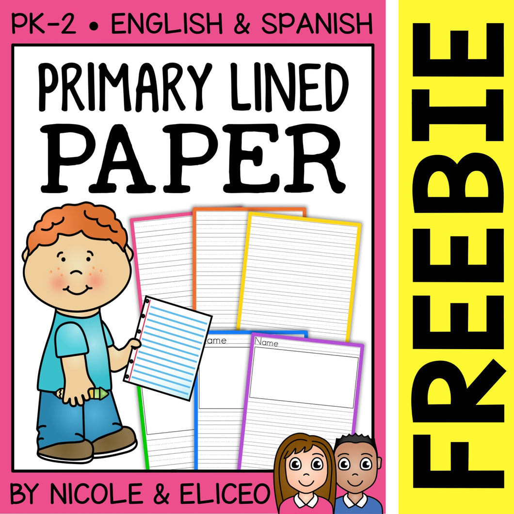FREE Primary Lined Writing Paper