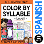 Spanish Color by Syllable Activities 1