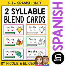Load image into Gallery viewer, Spanish Syllable Blend Cards 3