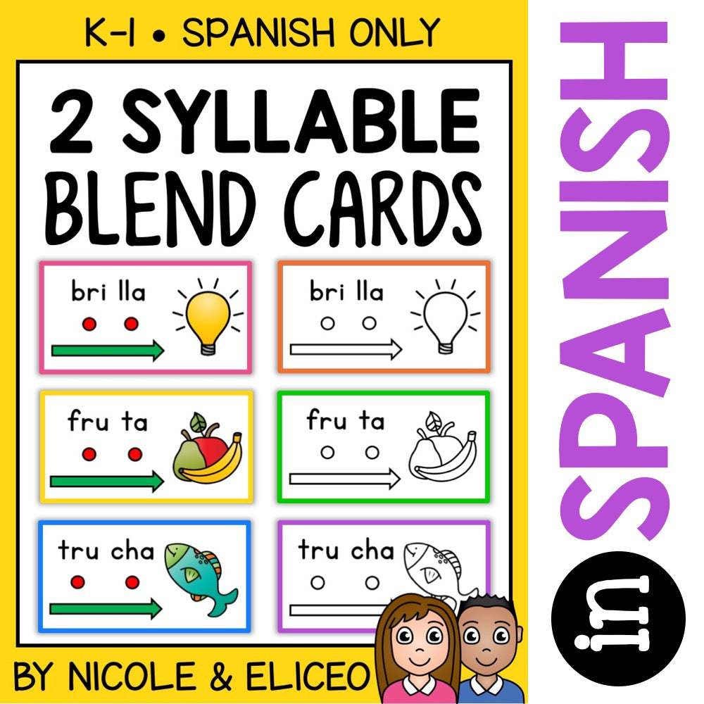 Spanish Syllable Blend Cards 3