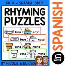 Load image into Gallery viewer, Spanish Rhyming Word Activity Puzzles 2