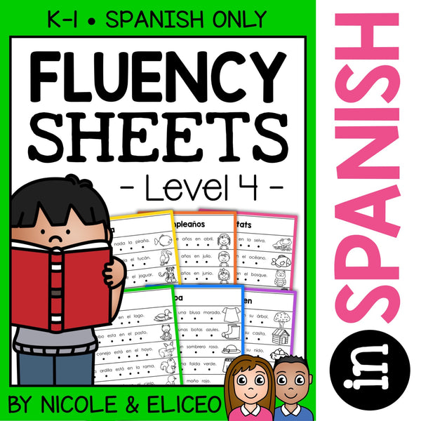 Spanish Reading Fluency Sheets 4