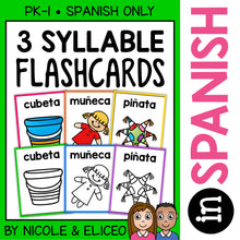 Load image into Gallery viewer, Spanish Syllable Flashcards 2