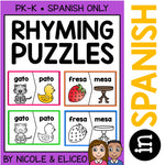Spanish Rhyming Word Activity Puzzles 1